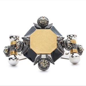 J.Crew Metal Medallion Bracelet Art Deco
